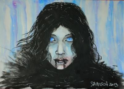 A3 watercolor & ink